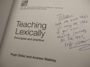 Hugh Dellar Teaching Lexically autograph