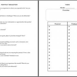 6. Планируйте задачи на месяц и оценивайте свою эффективность
